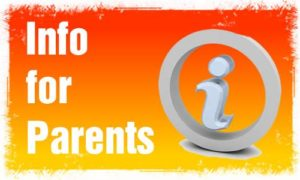 "orange graphic reading ""Info for Parents"""